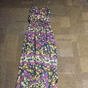 Xhiliration Colorful Maxi Dress