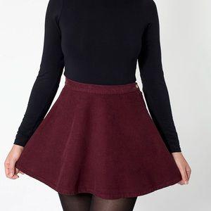 American Apparel corduroy mini circle skirt
