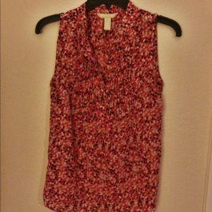 Speckled sheer tank blouse