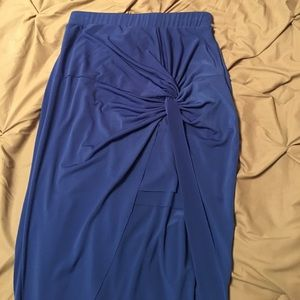 Blue Maxi Skirt