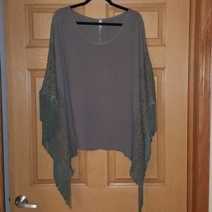 Olive green loose fit shirt
