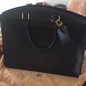 Authentic Louis Vuitton black Epi riviera