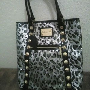 Like new  Betsy Johnson super large tote