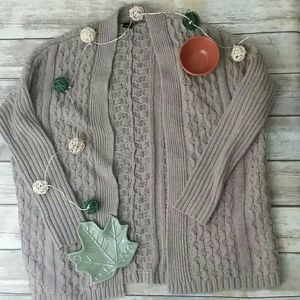 Ann Taylor cable knit open cardigan