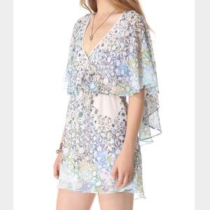 Free People Floral Cape Dress