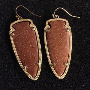 Kendra Scott Sky Earrings in Goldstone