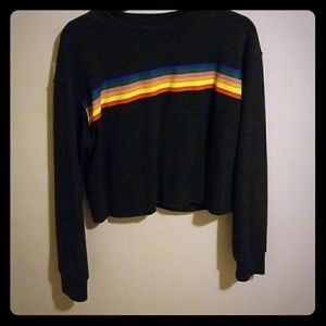 Forever 21 Rainbow Crop sweater