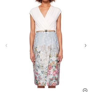 Ted Baker Macla patchwork wrap Dress