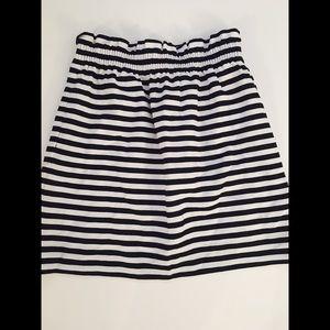 J. Crew Black & White Striped Skirt
