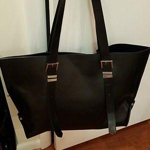 Zara black tote purse