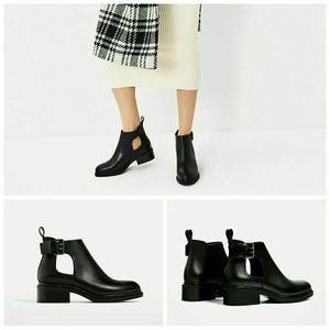 Open ankle boots