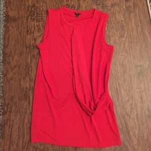 Red sleeveless top, size small