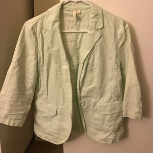 Mint Green Cropped Blazer