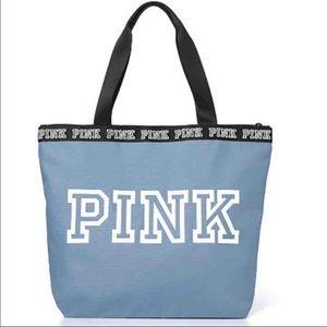 Victoria Secret PINK tote, light blue NWT