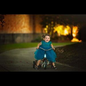 Other - 2T Turquoise Tulle Couture Dress
