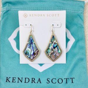 Kendra Scott Alex abalone gold earrings