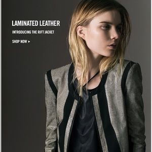 Helmut Lang Stretch leather jacket