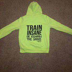 Neon Blogilates running hoodie