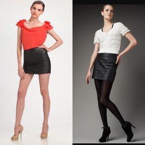 Anthropologie Leather Mini Skirt