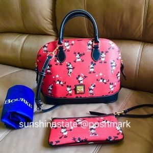 Disney Dooney Bourke Red Retro Mickey Minnie Mouse