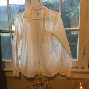 Madewell White Button-Up Blouse
