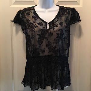 Merona Black Lace top