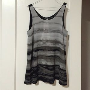 Woven and knit combo tank