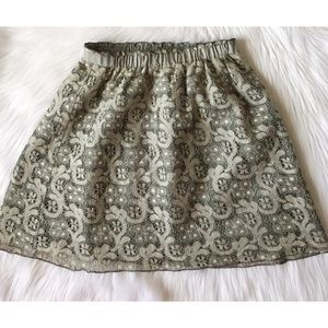 J.Crew Healther Lace Skirt - Sage Green