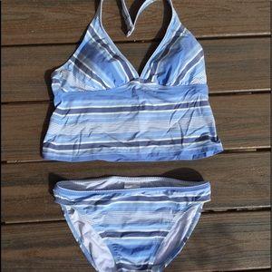 Tommy Hilfiger blue striped bikini