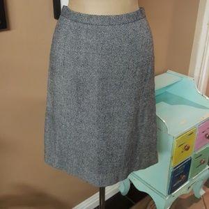 Vintage Wool Blended Pencil Skirt