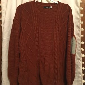 URBAN OUTFITTERS CHESTNUT ORANGE SWEATER
