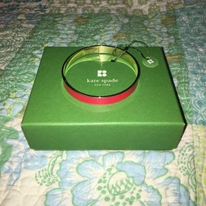 Kate Spade Red and Gold Bangle