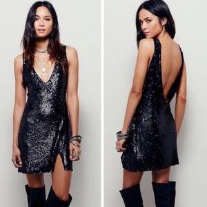 Free people black sequin dress
