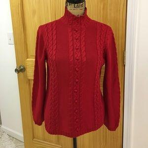 Beautiful warm red sweater