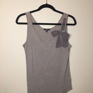 Gray dress tank with bow
