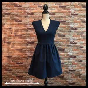 French Connection Structured V-Neck Dress