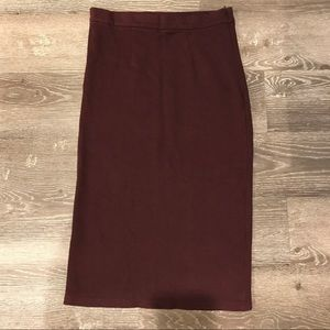 🔥 Topshop high-waisted midi knit pencil skirt 🔥