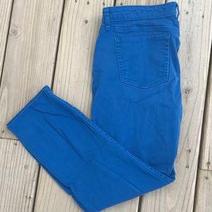 Gap Premium Bright Blue Ankle Pants