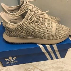 Adidas TubularShadowKnit lightbrown /cream sneaker