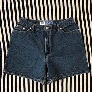 Vintage Faded Glory Dark Blue High Waist Shorts