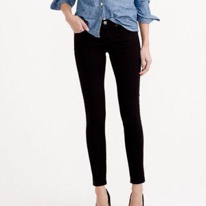 [J. Crew] Toothpick Black Ankle Jeans - 25