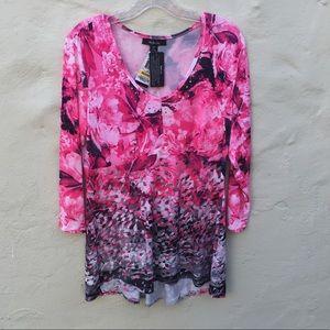 Style & Company, Colorful, NWT, M,, hi-lo Tunic,