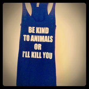 "Women's "" Be Kind To Animals"" tank!"