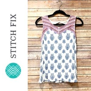 Stitch Fix Skies are Blue embroidered top