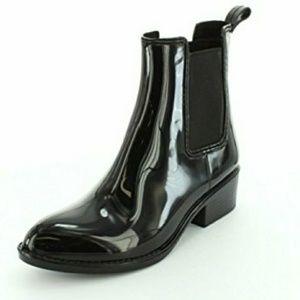 Jeffrey Campbell rain booties sz 10