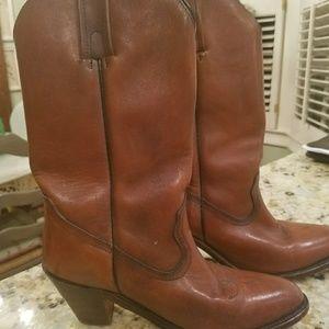 Frye Boots-Cognac colored