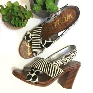 New! Sam Edelman animal print Ivy sandals