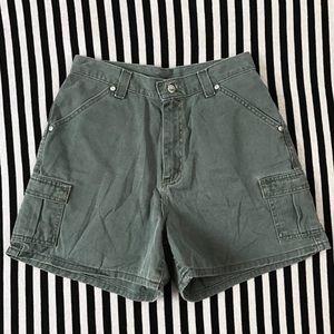 Vintage Lee Military Green High Waist Shorts