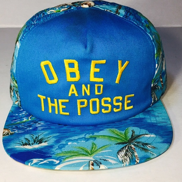 270f5a7e8e2 OBEY AND THE POSSE TROPICAL SNAPBACK HAT. M 59c1d668f09282c3bf03d9a4