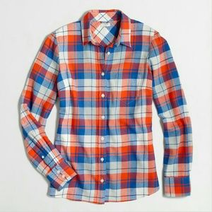 Boyfriend Jcrew  flannel shirt in red